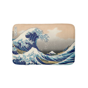 KATSUSHIKA HOKUSAI - The great wave off Kanagawa Bath Mat