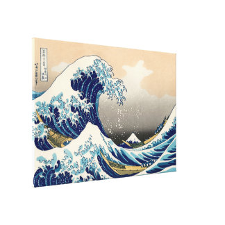 KATSUSHIKA HOKUSAI - The great wave off Kanagawa Canvas Print