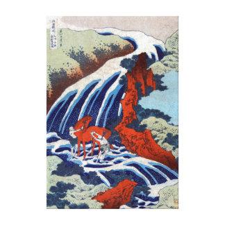 Katsushika Hokusai Yoshino Waterfalls Canvas Print