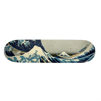 Katsushika Hokusai's Great Wave off Kanagawa Custom Skate Board