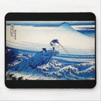Katsushika north 斎, HOKUSAI BLUE Mouse Pad