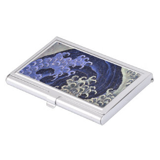 Katsushika north 斎 'woman 浪 (me average)', Hokusai Business Card Holder