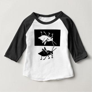 Katydid design 2 black and white baby T-Shirt