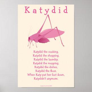 Katydid Poster
