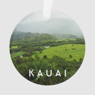 Kauai, Hawaii Landscape 2 Photo & Text Ornament