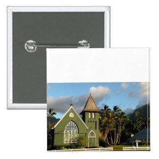 Kauai Hawaii North Shore Chapel 2 Inch Square Button