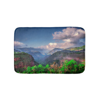Kauai Hawaii Tropical Mountain Range Bath Mat