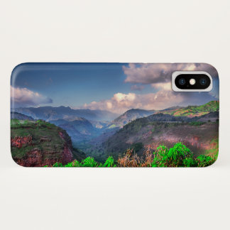 Kauai Hawaii Tropical Mountain Range iPhone X Case