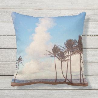 Kauai Island Palms Outdoor Throw Pillow