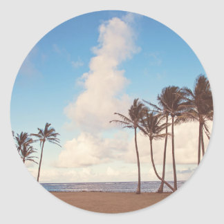 Kauai Island Palms Sticker