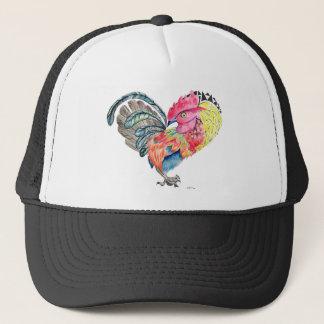 Kauai Love Rooster Heartimal Trucker Hat