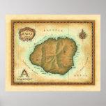 Kauai-map-4000-dpi-across Poster