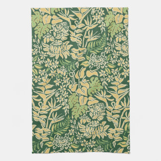 Kauai Morning Hawaiian Protea Floral Kitchen Towel