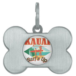 Kauai Surfs Up Pet Tag