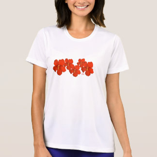 Kauai T-Shirt ~ Clusters of  Red Hibiscus Flowers