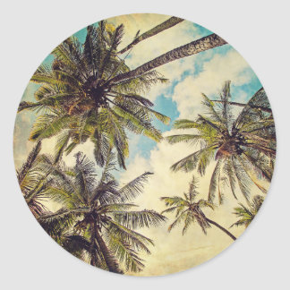 Kauai Vintage Palm Trees Sticker