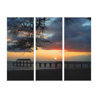 Kauai Waimea Pier Sunset Canvas Print