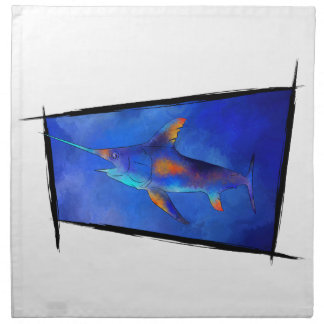 Kauderon V1 - Beautiful Swordfish Printed Napkins