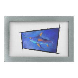 Kauderon V1 - Beautiful Swordfish Rectangular Belt Buckle