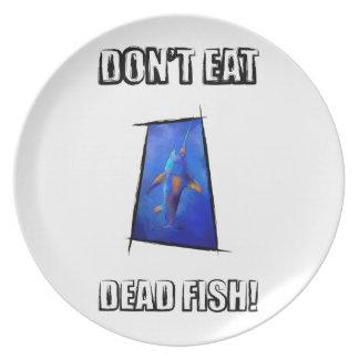 Kauderon V1 - Beautiful Swordfish with text Party Plate