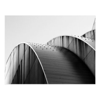Kauffman Center Black and White Curves Kansas City Postcard