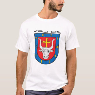 Kaunas old CoA in front - small Vytis in the back T-Shirt