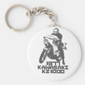 Kawa KZ1000 1977 Basic Round Button Keychain