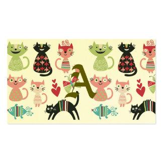 kawai,cute,cats,butterflies,fish,hearts,fun,happy, pack of standard business cards