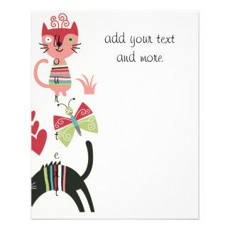 kawai,cute,cats,butterflies,fish,hearts,fun,happy, personalized flyer