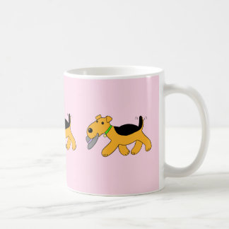 Kawaii Airedale Terrier Dog With a Hat Mug