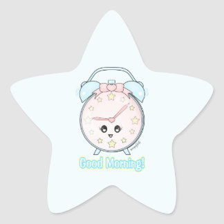 Kawaii Alarm Clock Star Sticker