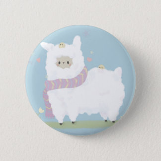 Kawaii Alpaca Badge 2 Inch Round Button