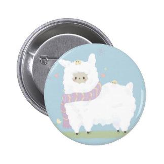 Kawaii Alpaca Badge Buttons