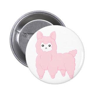 Kawaii Alpaca Button