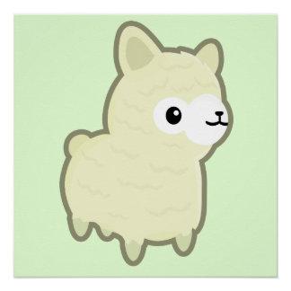 Kawaii alpaca perfect poster