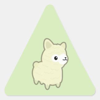 Kawaii alpaca triangle sticker