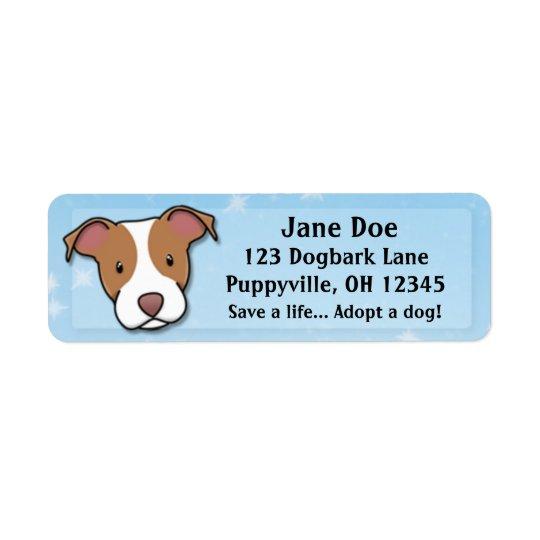 Kawaii American Pit Bull Terrier Return Address Label