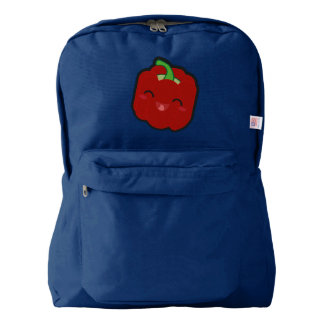Kawaii and funny red pepper backpack