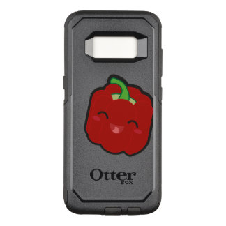Kawaii and funny red pepper OtterBox commuter samsung galaxy s8 case