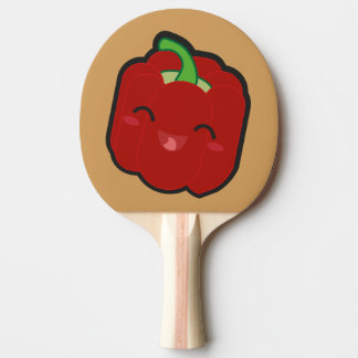 Kawaii and funny red pepper ping pong paddle