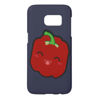 Kawaii and funny red pepper samsung galaxy s7 case