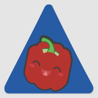 Kawaii and funny red pepper triangle sticker