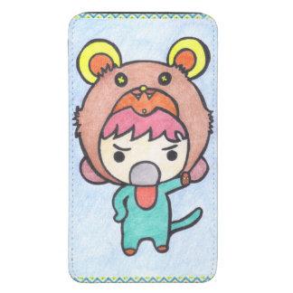 Kawaii Angry Boy Samsung Galaxy S5 Pouch