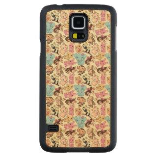 Kawaii Animals Carved® Maple Galaxy S5 Slim Case