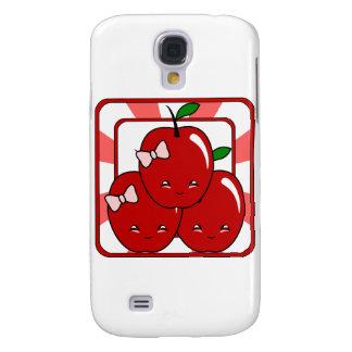 Kawaii Apple Basket (Girl) Galaxy S4 Cases