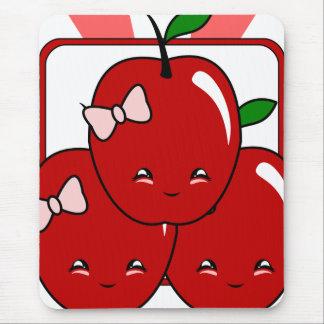 Kawaii Apple Basket (Girl) Mousepad