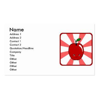 Kawaii Apple (Boy) Pack Of Standard Business Cards
