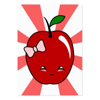Kawaii Apple (Girl) Pack Of Chubby Business Cards