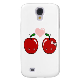 Kawaii Apple Love Galaxy S4 Covers