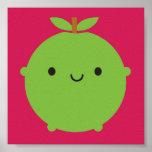 Kawaii Apple Poster